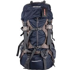 WASING Internal Frame Backpack Hiking Backpacking Packs for Outdoor Hiking Travel Climbing Camping Mountaineering with Rain Cover *** Details can be found by clicking on the image. (This is an affiliate link and I receive a commission for the sales) Backpacking Gear, Camping And Hiking, Hiking Gear, Camping Gear, Camping Trailers, Rain Camping, Hiking Bags, Backpacking Hammock, Camping Survival