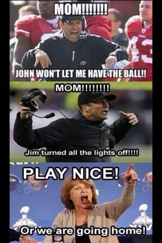 Super Bowl XLVII Harbaugh brother conflict! Haha