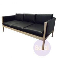 Replica Hans Wegner CH163 Sofa   Aniline Leather