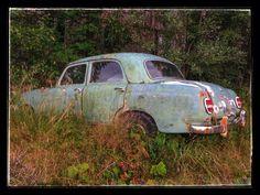 Abandoned Mercedes at Averøy near Kristiansund