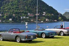 Maseratis in front of Lake Como