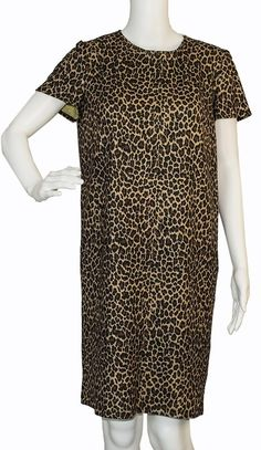 Dress. Free shipping and guaranteed authenticity on Dress at Tradesy. Bella Bicchi, Leopard print, size 6, bust 36, wais...