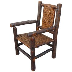 View this item and discover similar for sale at - This Old Hickory child's arm chair has all original woven seat and back & is in very good sturdy, condition.It is signed Old Hickory Furniture ,Martinsville Old Hickory Furniture, Log Cabin Furniture, Backyard Furniture, Rustic Furniture, Furniture Ideas, Modern Armchair, Modern Chairs, Orange Accent Chair, Home Depot Adirondack Chairs