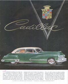 vintage cadillac ads | Vintage Mid-Century Cadillac Ad 1947 Fortune Magazine Ad (Vintage Car ...