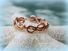 Copper Infinity Knot Ring  16g Infinity by BentTwistedCreations, $30.00