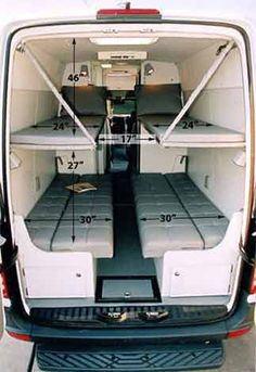 Sprinter Van Sleeper Conversions | Help planning 4 sleeper surf/moto camper - Sprinter-Forum