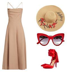 """Red"" by keity-pinheiro on Polyvore featuring moda, Valentino, Christian Louboutin e Dolce&Gabbana"
