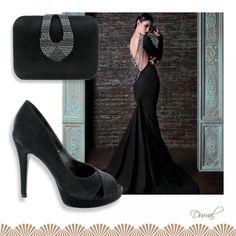 Dica de look para seu vestido preto não ficar nada básico!  Ref: Celebration DV858.01 Ref: Lovely 300/183. 01