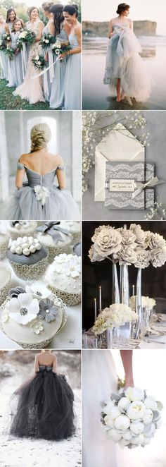 Shades of grey wedding inspiration on GS Inspiration #greywedding
