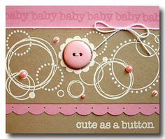 Stamped circles and button and pearls