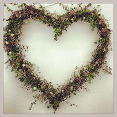 Huge floral heart