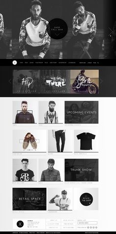 Men's fashion site design. Like it on my Dribbble: https://dribbble.com/shots/1607173-Fashion-Brand-X?list=users&offset=0