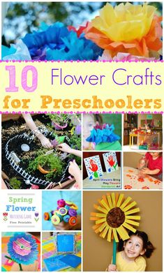 Flower Crafts for Preschoolers - http://innerchildfun.com/2014/04/flower-crafts-for-preschoolers.html #kids