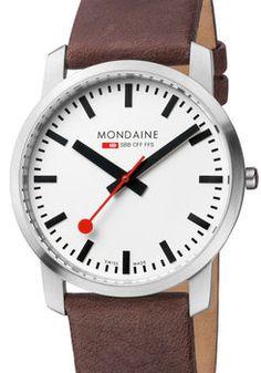 Mondaine Ultra Thin Men's Brown Watch (A638-30350-11SBG)