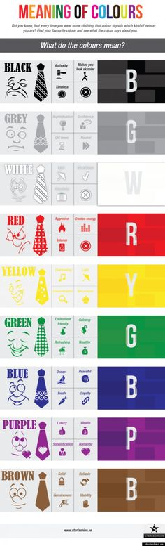 Color Clothing Meaning - INFOGRAPHICiNFOGRAPHiCsMANiA