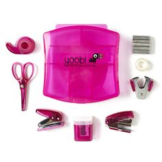 The mini supply kit is pretty in pink, and a great gift for girls! You buy, Yoobi gives.