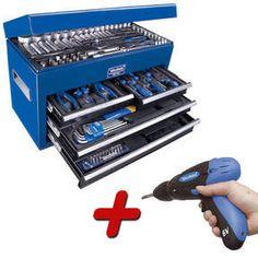 Westfalia - endlich das richtige Werkzeug!!!  Westfalia 180 tlg. Werkstattkoffer inkl. 6,0V Ergo Akkuschrauber