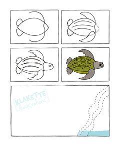 * Zo teken je een schildpad!