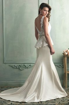 Popular New Fashion White Straps Ball Gown Swarovski Crystals and Sequins Peplum Wedding Dresses High Quality Real Sample Wedding Dresses Pinterest