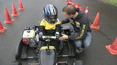 Wie die Großen: Beim MSC Schüttorf kämpfen die kleinen Kartfahrer um jede Sekunde