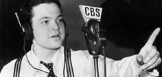 WAR OF THE WORLDS, Orson Welles' infamous radio dramatisation of H. Wells' War of the Worlds, 75 years after it set off one of the biggest mass hysteria events in U. Orson Welles Radio, Radios, News Bulletin, Old Time Radio, Still Picture, Education Humor, The Martian, Screenwriting, Funny Art