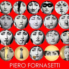 CHEGARAM HOJE!!!! Pratos de Parede Piero Fornasetti. http://www.marcheartdevie.com.br/produtos/quadros-e-esculturas/prato-de-parede-t-v-022-branco-preto-e-dourado/
