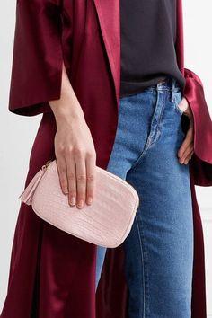Nancy Gonzalez - Crocodile Shoulder Bag - Baby pink - one size