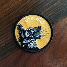 Show everybody that you are wild like the wolf with this iron-on embroidered patch.  -2.5 round -iron-on backing