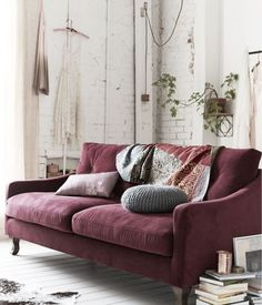 nice The perfect mixture of red and brown, Marsala can add warmth and sophistication to your fall décor. Marsala, ideally, would be used as an accent wall color, as a print or as a focal piece of furniture. My Living Room, Home And Living, Living Spaces, Modern Living, Room Inspiration, Interior Inspiration, Design Inspiration, Furniture Inspiration, Rosa Sofa