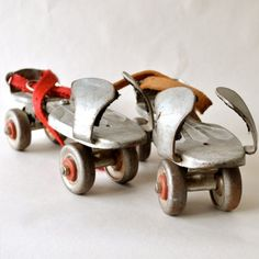 Anyone remember when you had to use your own shoes and strap and clamp them in and the noise the metal wheels made?