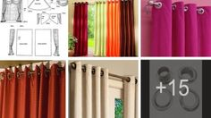 Aprende como hacer unas Cortinas con Argollas hermosas Sewing Patterns, Curtains, Vestidos Sport, Home Decor, Videos, Sewing Tips, Sewing Blogs, Blinds, Interior Design