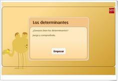 """""""Los determinantes"""" (Juego de clases de palabras de Primaria) Spanish Language, Teaching Resources, Learning Spanish, Social Science"""