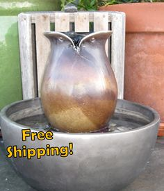 Wise Owl Water Fountain Outdoor Water by NoodleDooDesigns on Etsy. $82.00, via Etsy.