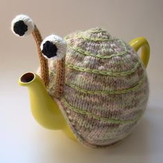 I am kind of obsessed with #teapots, and this is super cute: Snail Tea Cosy #tea
