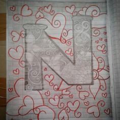 N for me & N for you ..  #doodle  #doodleart  #pencilsketch