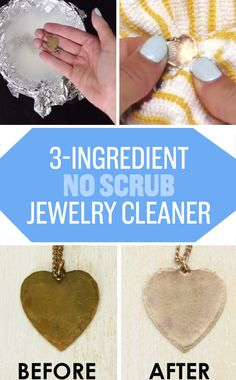 Shine up your silver-plated costume jewelry using a simple salt and baking soda…                                                                                                                                                                                 More