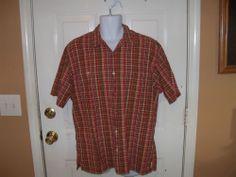 Ralph Lauren Polo Jeans Plaid Short Sleeve  Shirt Size Medium Men's EUC #RalphLauren