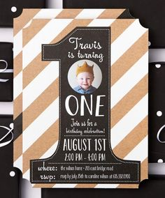 Celebrate their very special first year with birthday party invitations. | Tiny Prints