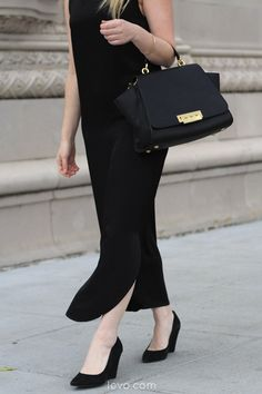 All black everything. Such chic work attire! Lizzie Agnew - levo.com @ModernCitizen