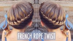 How to: French Rope Twist | Little Girl Hairstyle | Brown Haired Bliss