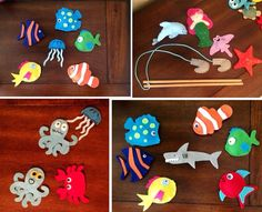 Magnetic fishing game. Under the sea party favors. by tdcfabi, $30.00