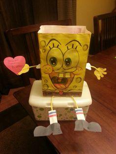 Spongebob valentines day box
