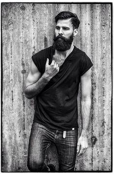 very black beard and mustache full thick bearded beards man men mens style hairy