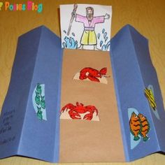 Sunday School Crafts: Moses and the Parting of the Red Sea - Children's Church - Sunday Plans Sunday School Projects, Sunday School Kids, Sunday School Activities, Sunday School Lessons, School Ideas, Preschool Bible, Bible Activities, Preschool Crafts, Bible Study For Kids