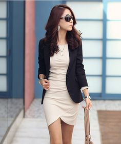 Perfect work outfit for office ladies. Cool style for fall wardrobe.