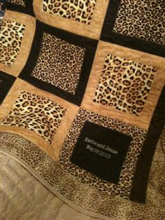 animal print quilts | leopard quilt - number 2: I'd like to make a quilt someday with zoo shirts/photos/animal print