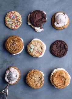 Ice cream cookie sandwiches!