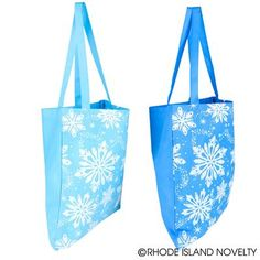 Be as unique as a snowflake with our Snowflake Totes. Add an environmentally friendly touch to your holiday gift by wrapping it in this 14.5-inch by 16-inch reusable bag. They're the perfect size for carrying an extra change of clothes on a cold winter's night. Stuff it with goodies and give it to your guests at your next winter wonderland-themed party. #snowflake #totes #partyplanning #Christmas #holidays