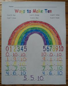Learning and Teaching for Life: Ways to Make Ten - Rainbow Style