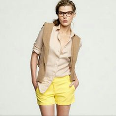 """J. Crew chino shorts in taupe Favorite warm weather shorts, they are feminine and modern all at once. With crisp, clean lines and soft feel. They pair nicely with tees and sandals, as they do with sequins and heels. 100% cotton. Sits just above hip. 3"""" inseam. In excellent condition. J. Crew Shorts"""
